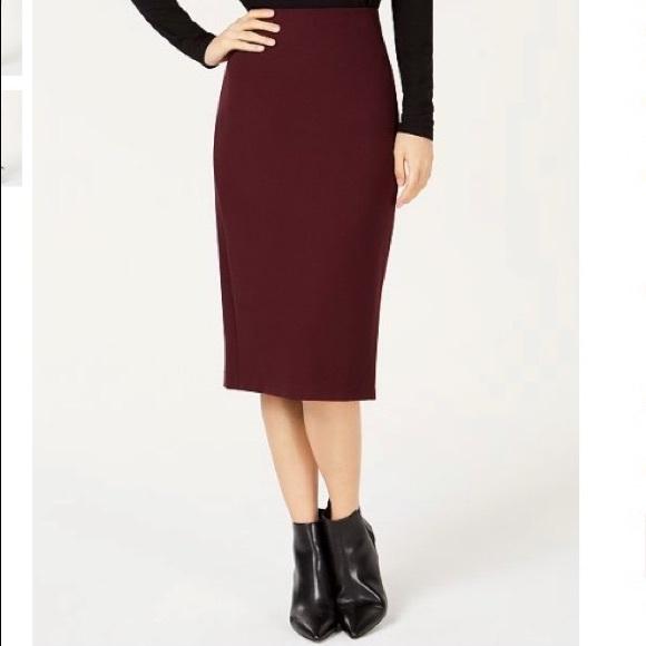 a9f163fd8 Vince Camuto Skirts | Ponte Knit Midi Skirt Portpurple S | Poshmark
